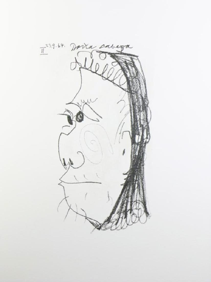 PICASSO PORTRAIT ABSTRACT LINE DRAWING 6.10.64 - 2