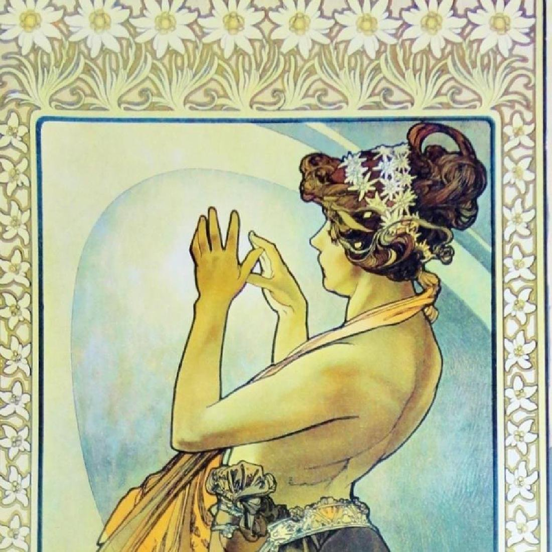 3 Large Mucha Repro Antique Poster Art Prints 48X18 - 5