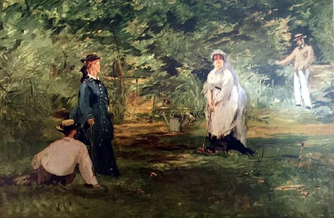 Edouard Manet The Croquet Match c.1873 Fine Art Print - 2