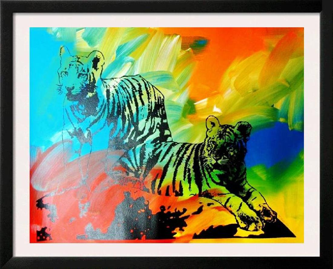 POP CANVAS TIGERS ORIGINAL ARTWORK SIGNED HUGE SALE