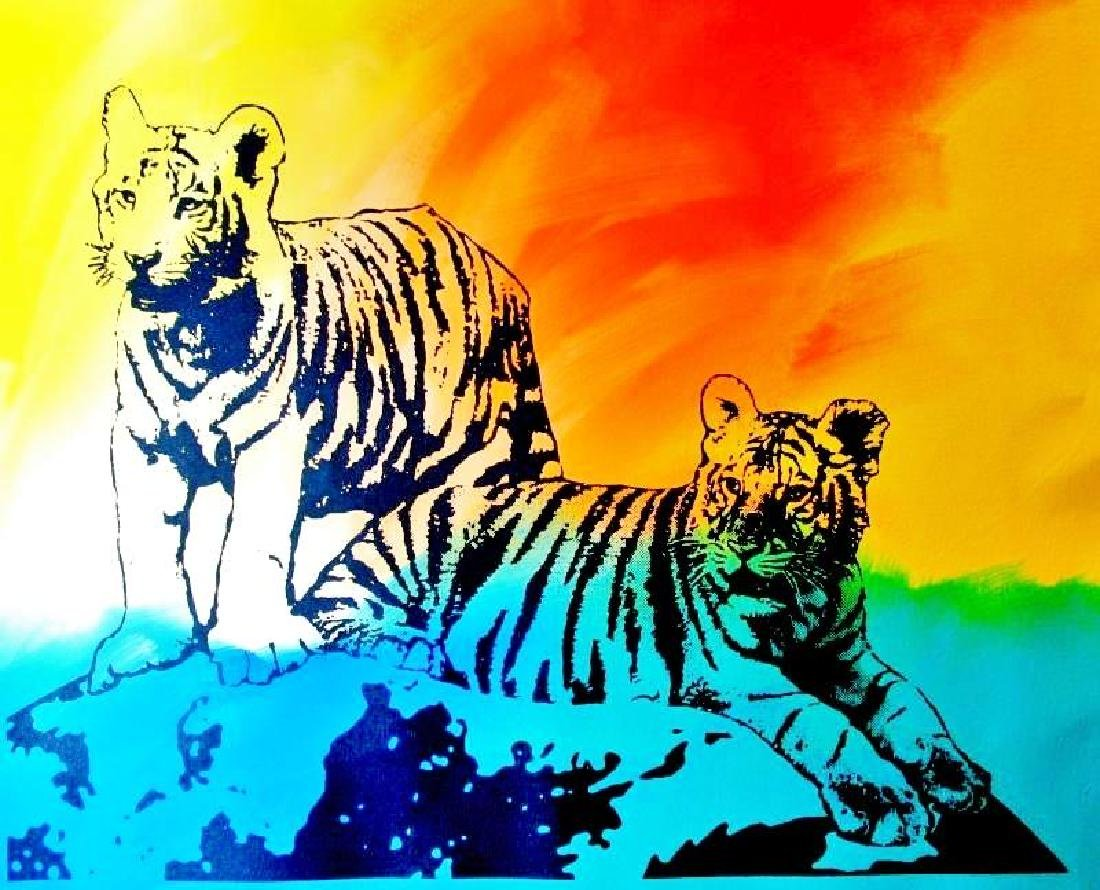 COLORFUL POP CANVAS ORIGINAL TIGERS MUST SEE - 2