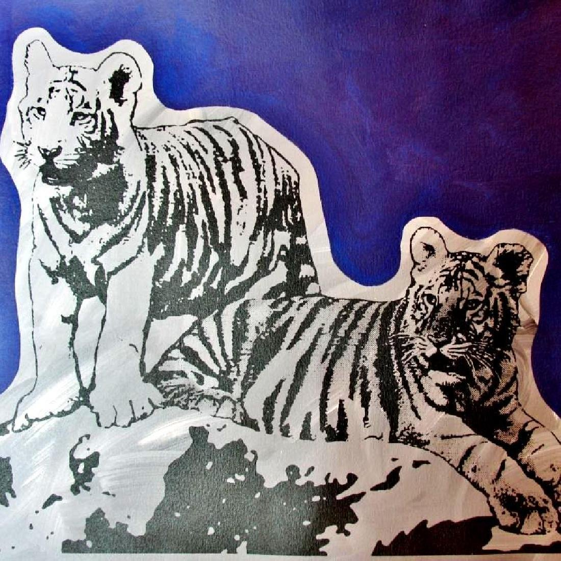 COLORFUL POP ART CANVAS ORIGINAL TIGERS ART SALE ONLY - 4