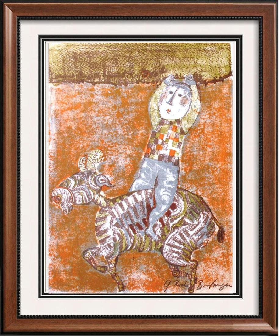 Boulanger Whimsical Colored Lithograph Rare Dealer Sale