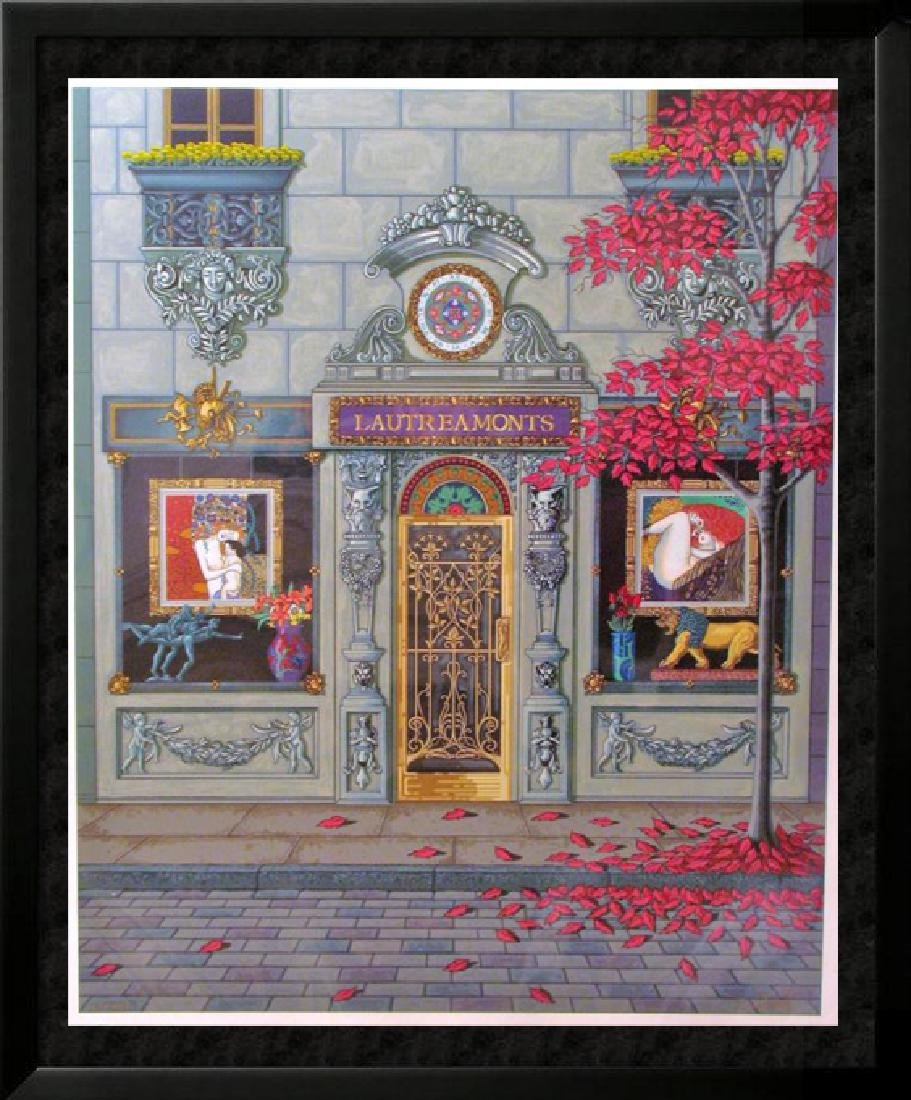 French Store Front Deco Ltd Edition Serigraph Estate