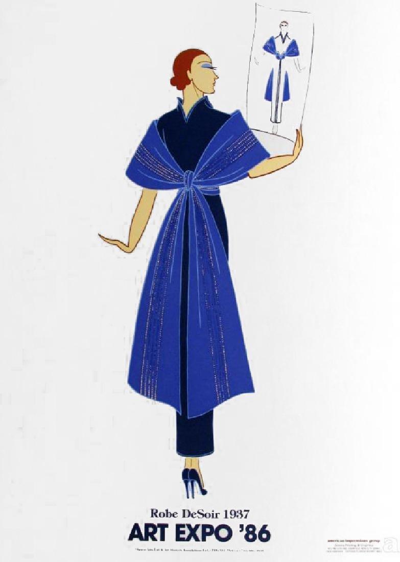 Erte Colored Litho Huge Sale Only $20 Art Deco - 3