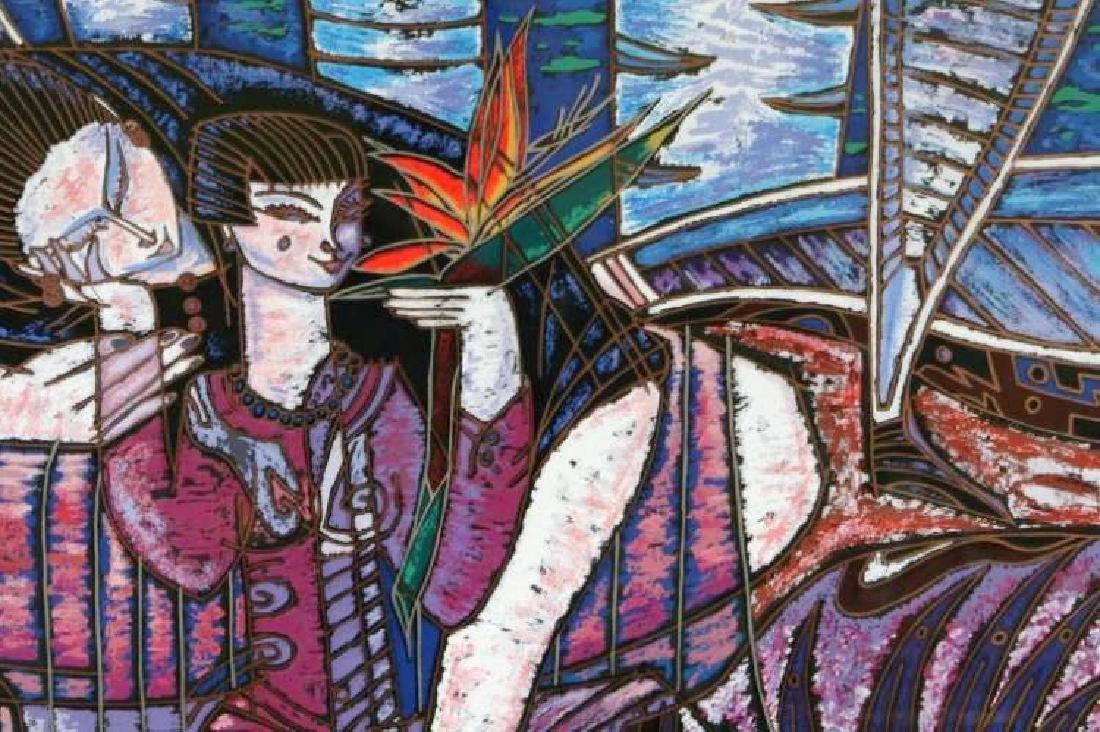 Wong Shue Yunnan Art Signed Ltd Ed Violet Colorful - 2