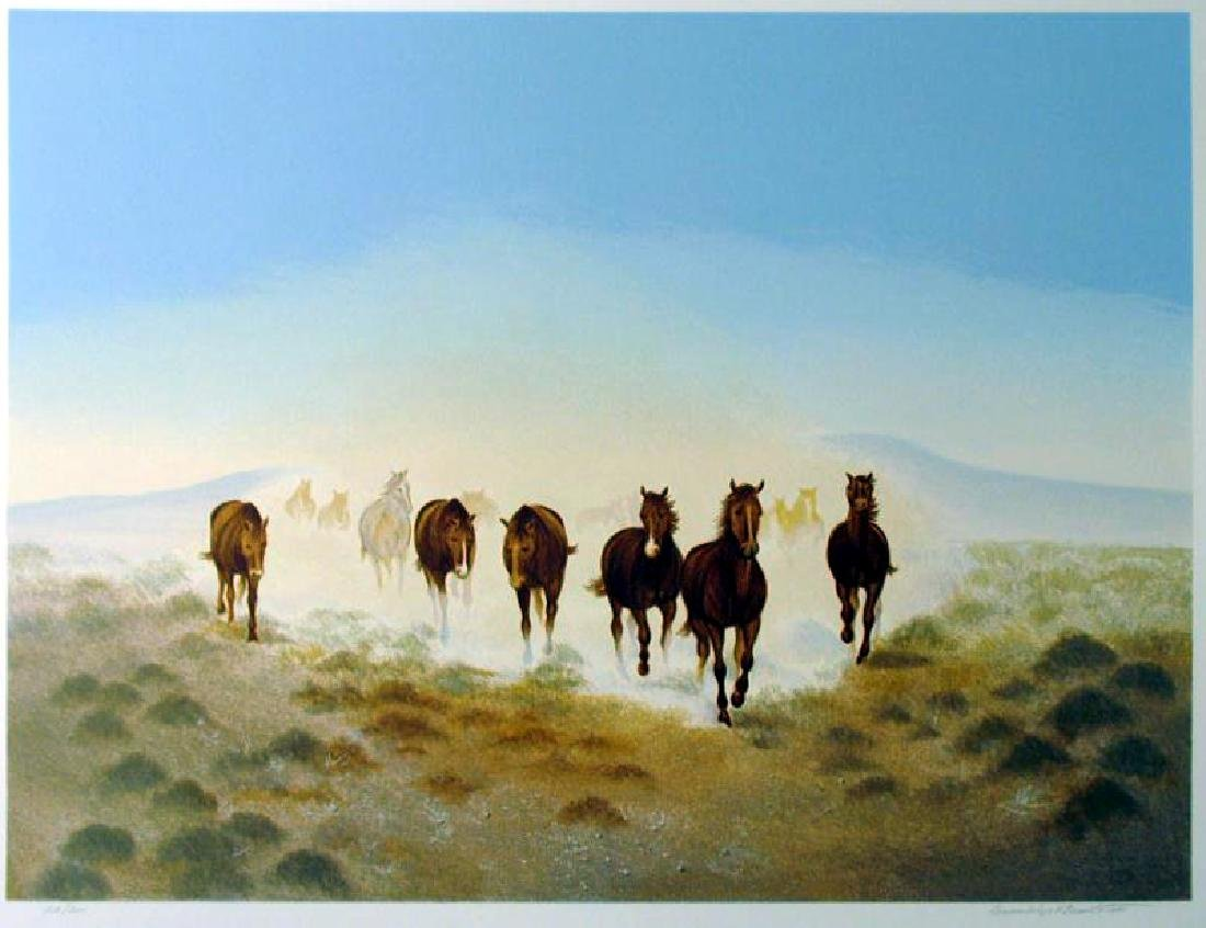 Rare Western Scenic Horse Desert Ltd Ed Sale - 2
