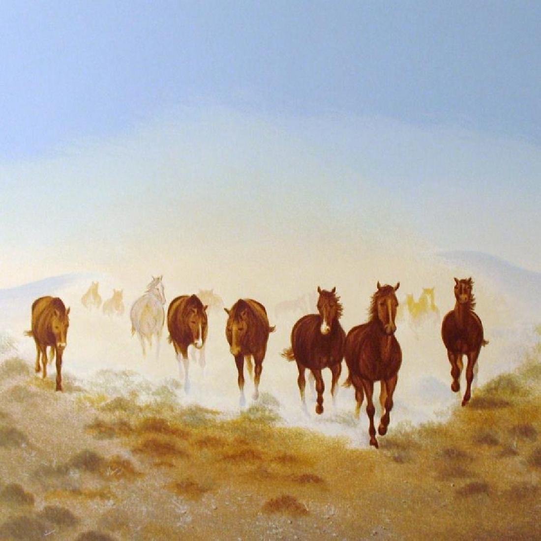 Rare Western Scenic Horse Desert Ltd Ed Sale - 3