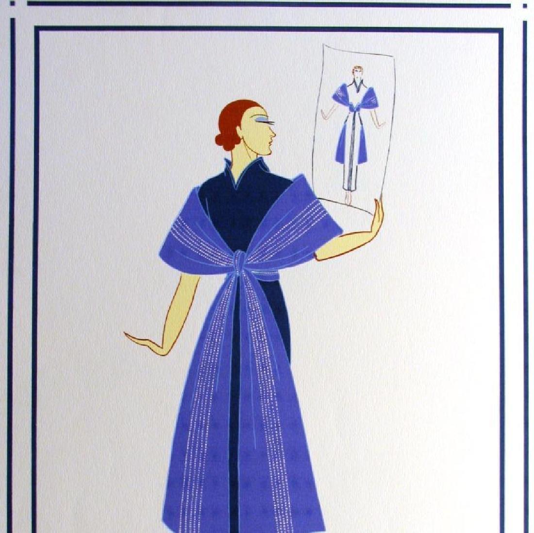 Erte Plate Signed Lithograph Art Deco Fashion Designer - 2