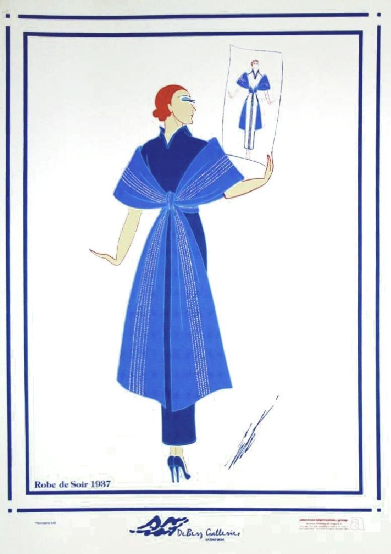 Erte Plate Signed Lithograph Art Deco Fashion Designer - 3