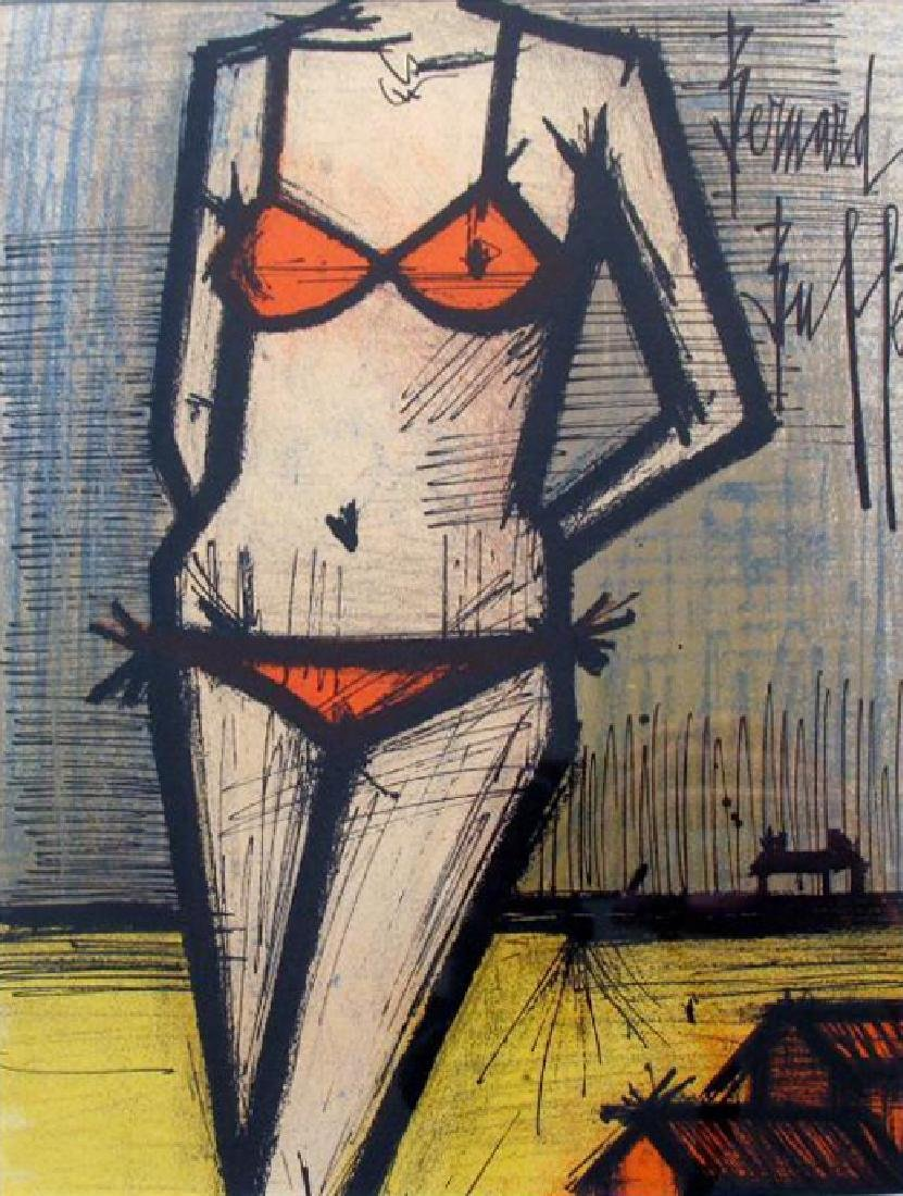 Buffet Bikini Original Colored Lithograph Signed Sale - 3