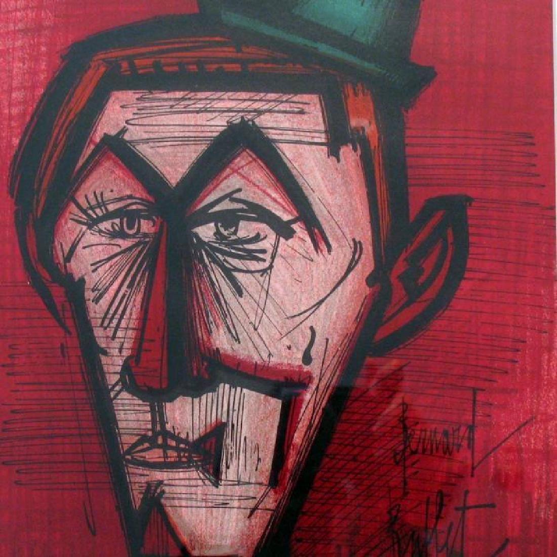 Buffet Clown Original Colored Lithograph Signed Sale - 3