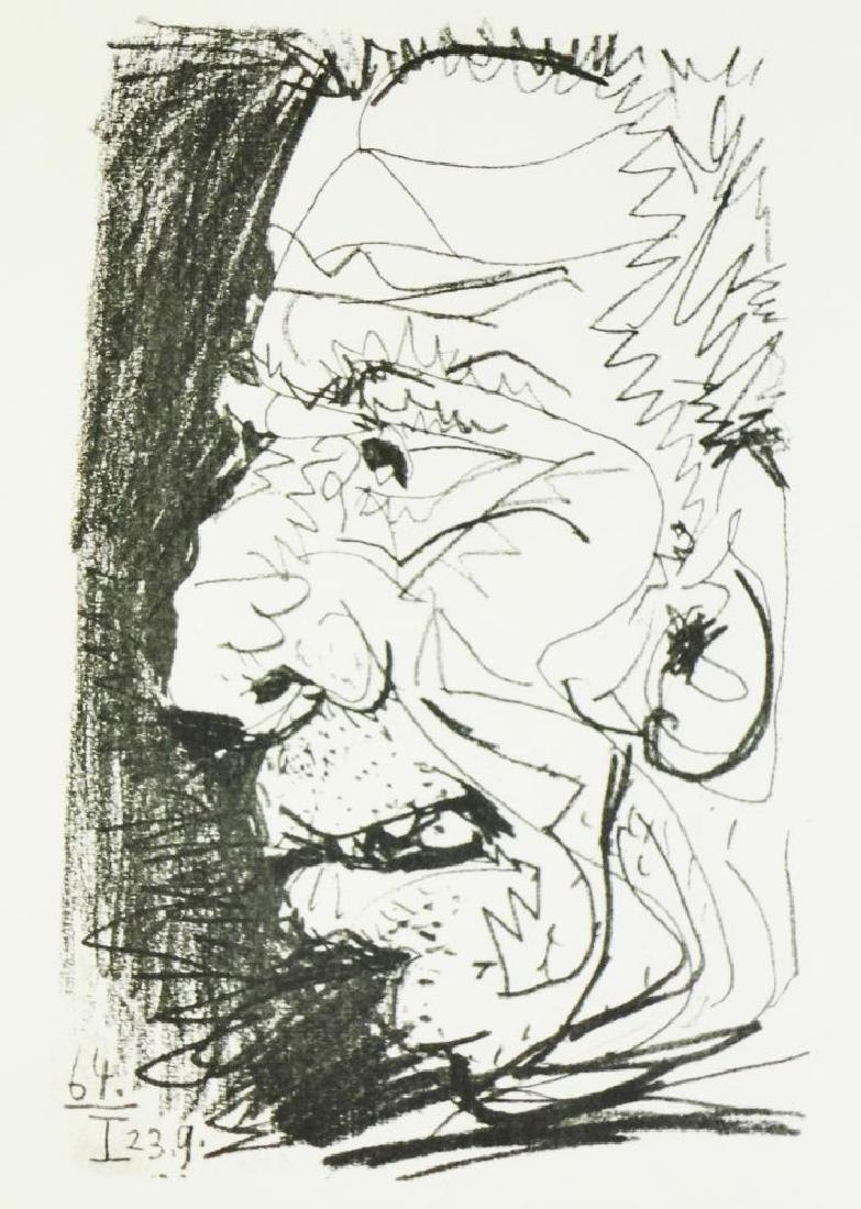 PORTAIT PABLO PICASSO RARE 1964 LIMITED EDITION ART