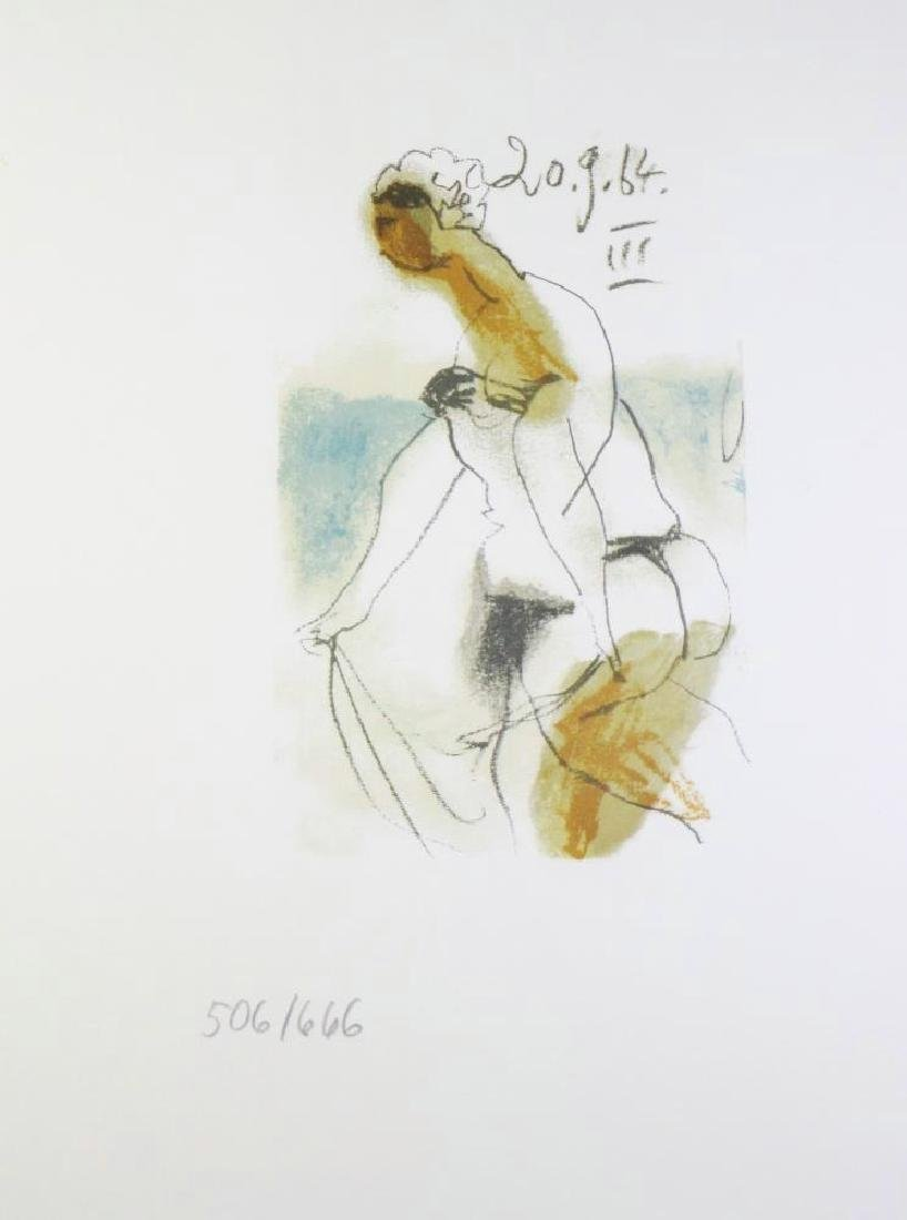 COLORED PICASSO EROTIC LIMITED EDITION HAND NUMBERED - 2