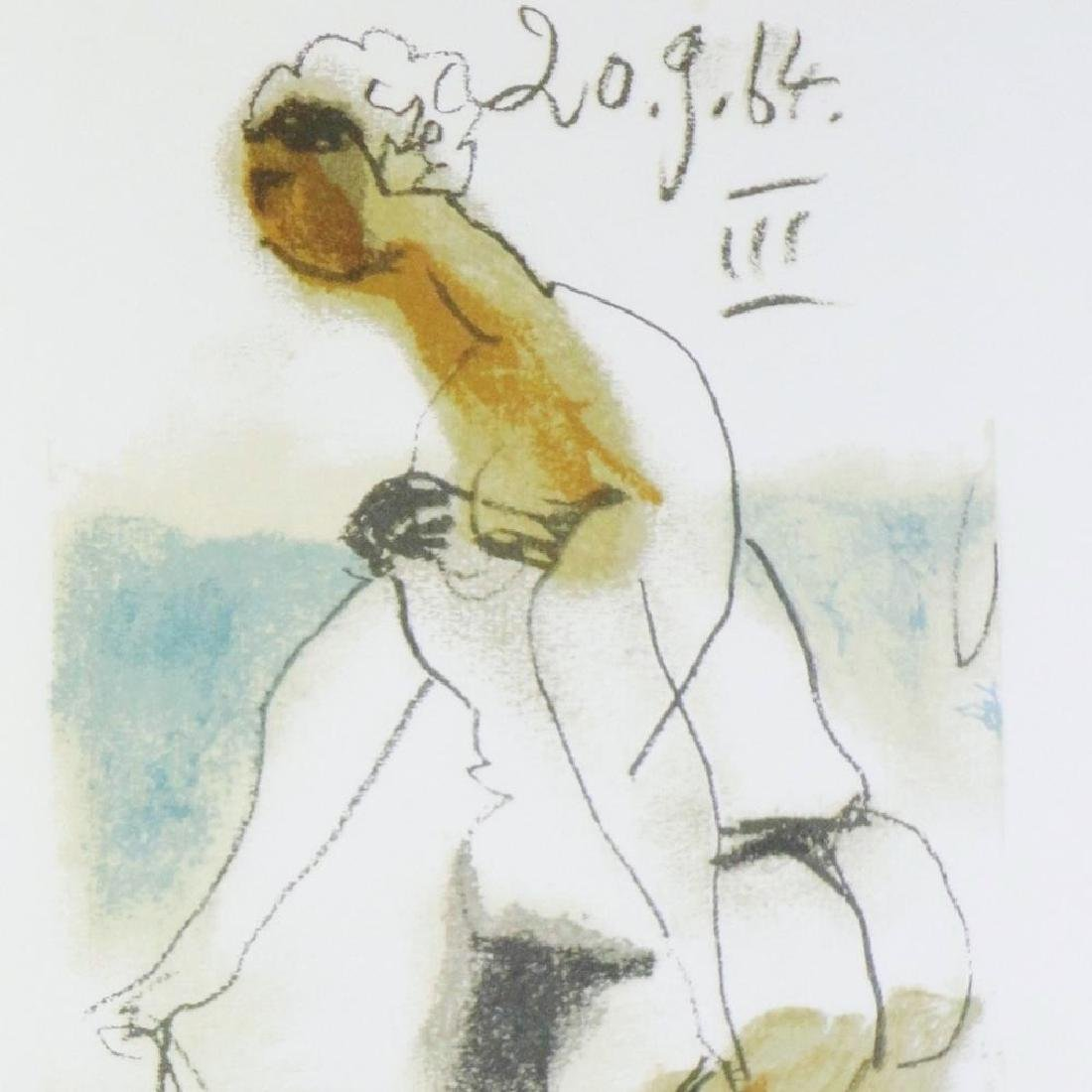 COLORED PICASSO EROTIC LIMITED EDITION HAND NUMBERED - 4