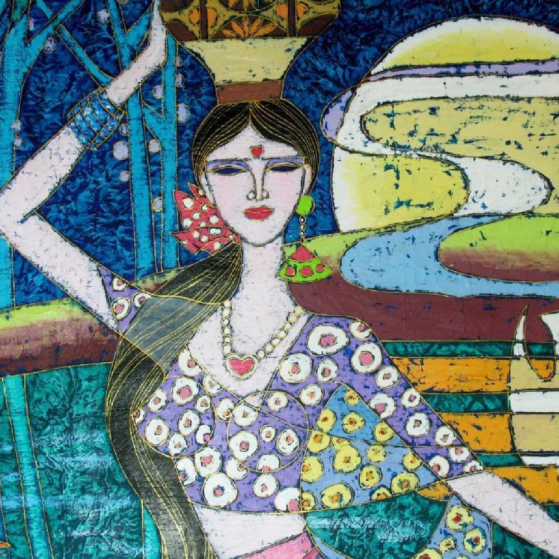 Asian Heart Art Original Stone Painting Student TING - 2