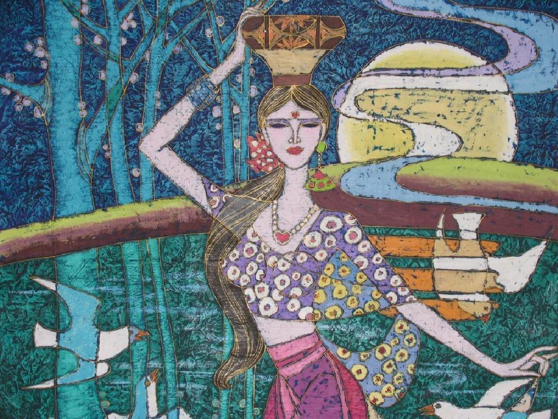 Asian Heart Art Original Stone Painting Student TING - 6