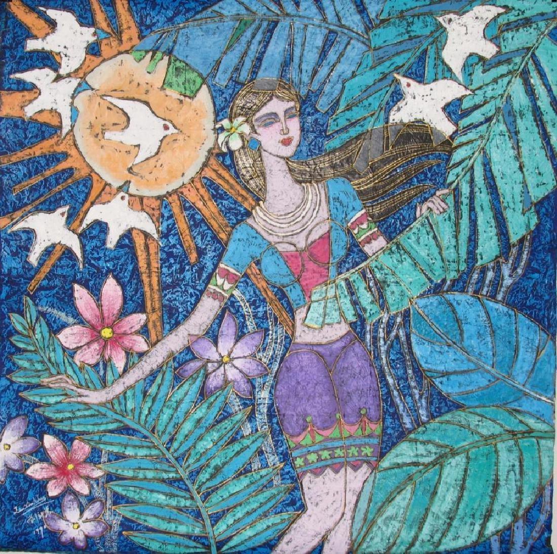 Asian Colorful Art Original Stone ORIG Student TING - 2