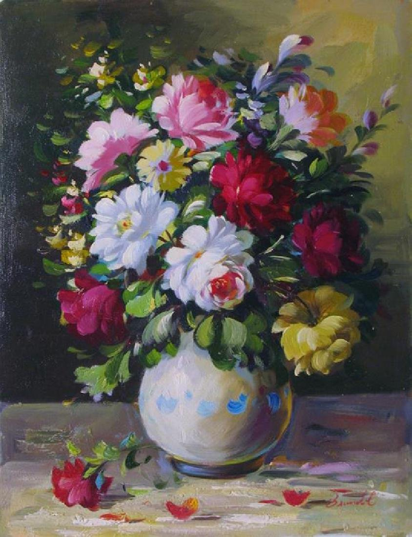 Still Life Only $100 Oil Painting On Canvas - 2