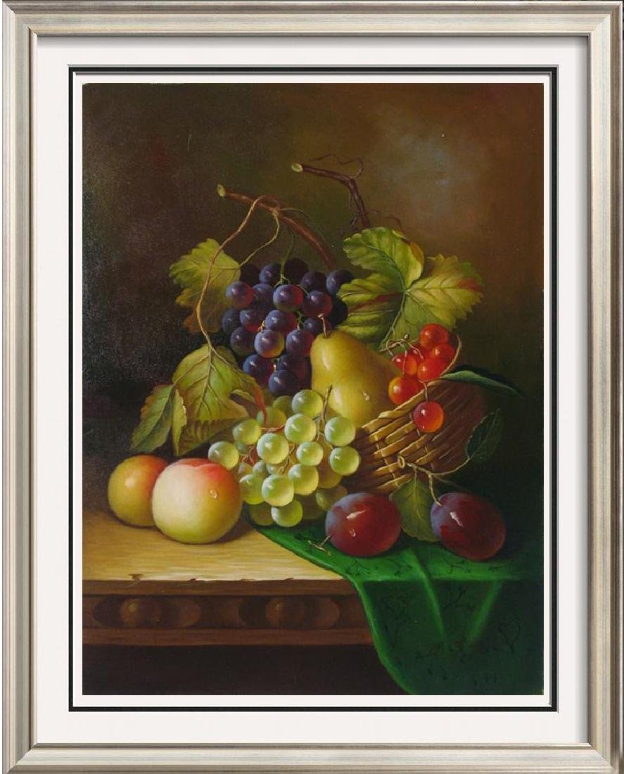 Original Still Life $60 Signed Painting On Canvas