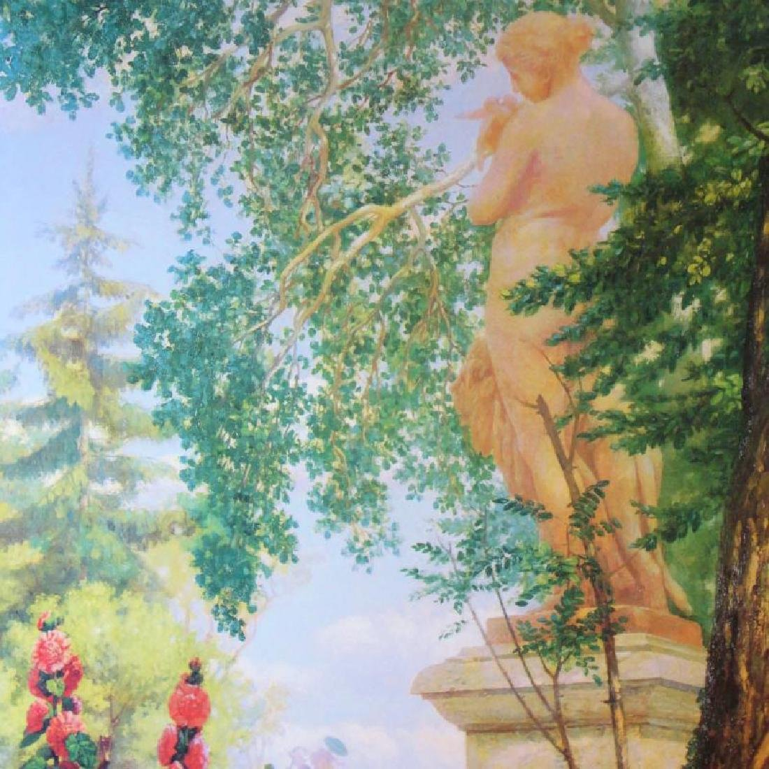 Neo Classical Art Print Colorful Garden Scene 55x29 - 3