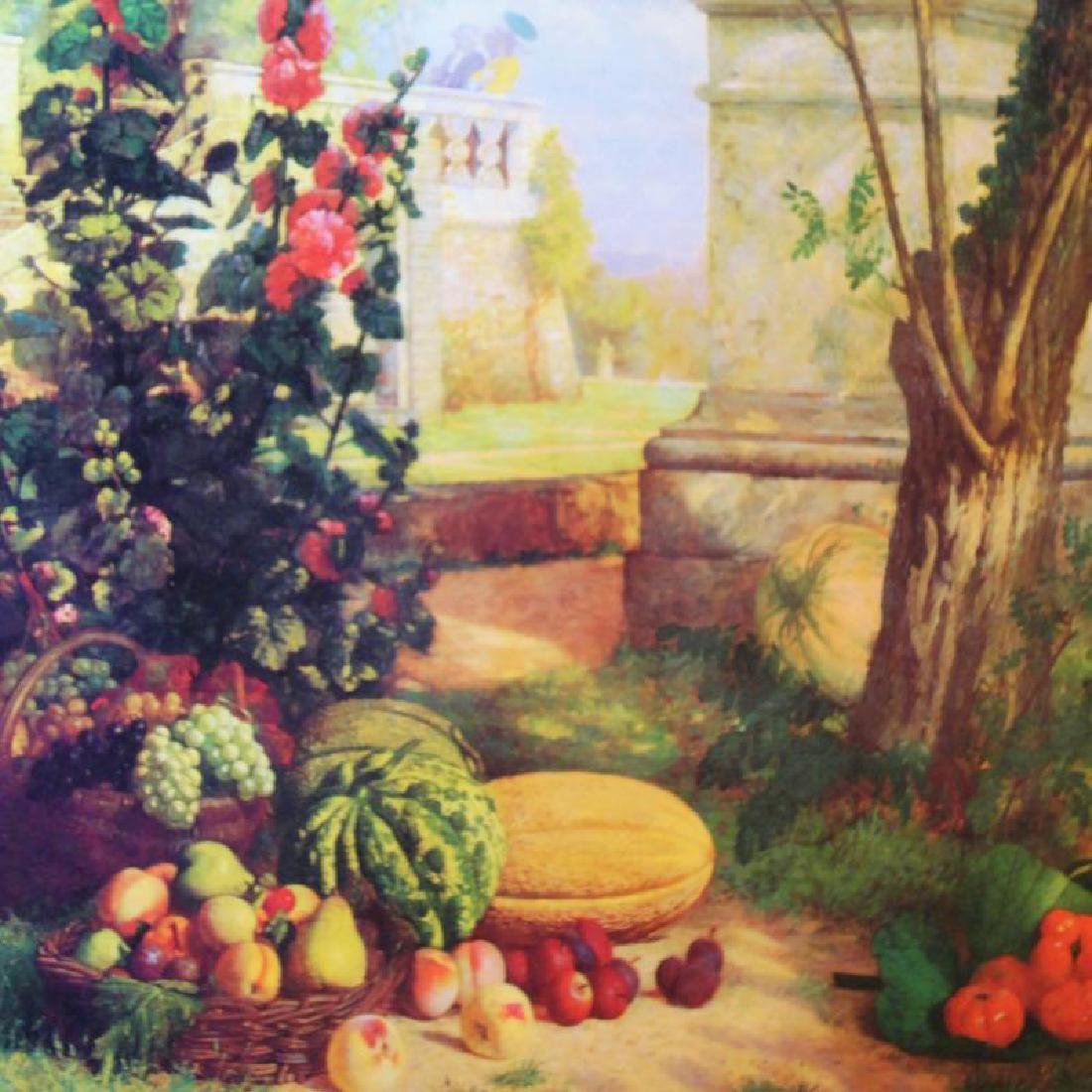Neo Classical Art Print Colorful Garden Scene 55x29 - 4
