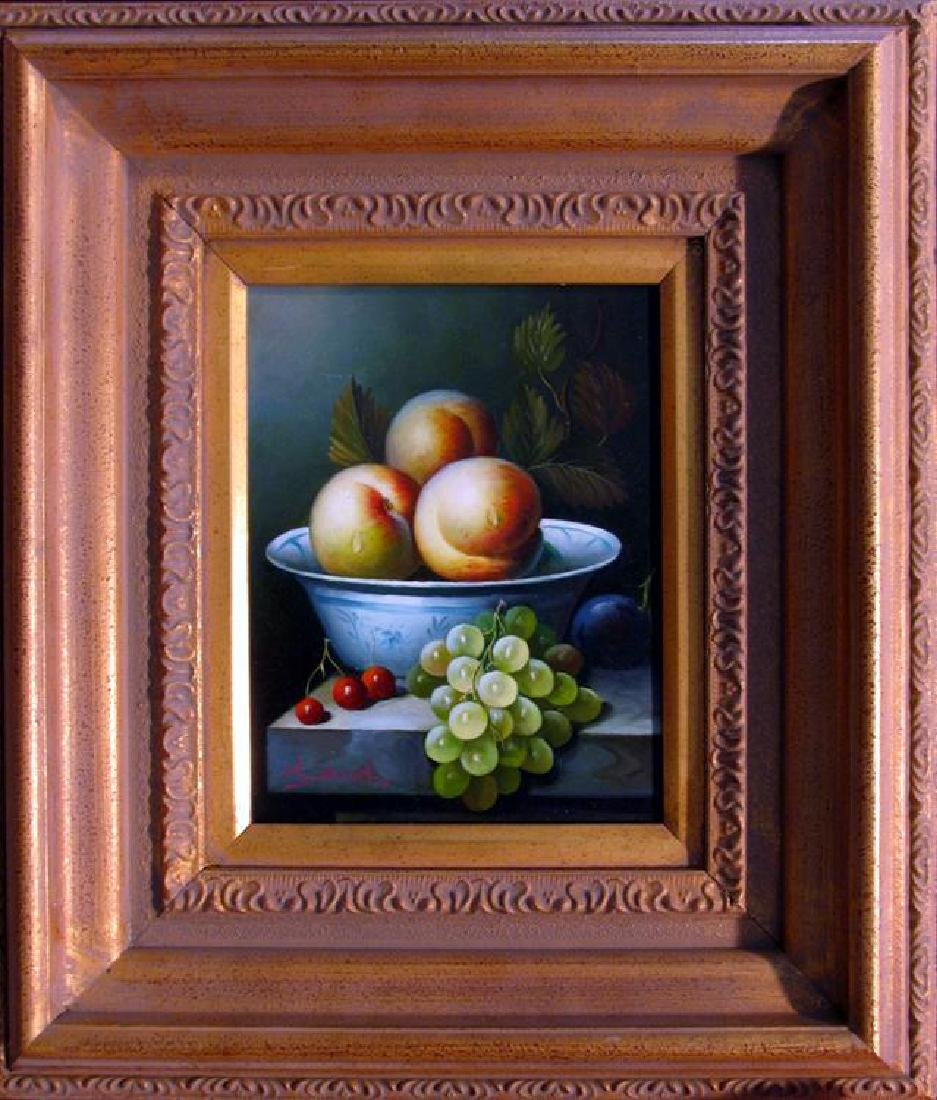 Museum Framed Still Life Fruit Bowl Huge Art Sale