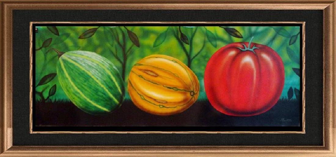 Latin American Art Fernando Montoya Realism Vegetables
