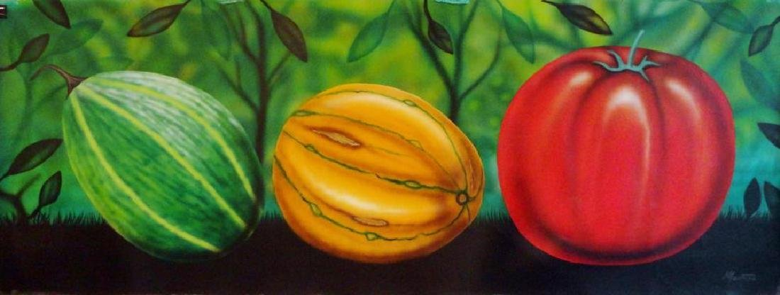 Latin American Art Fernando Montoya Realism Vegetables - 2