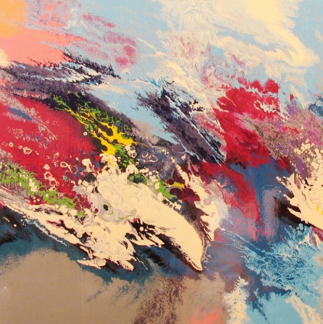 Dolphin Ocean Abstract Pop Ltd Ed Modern Signed Art - 3