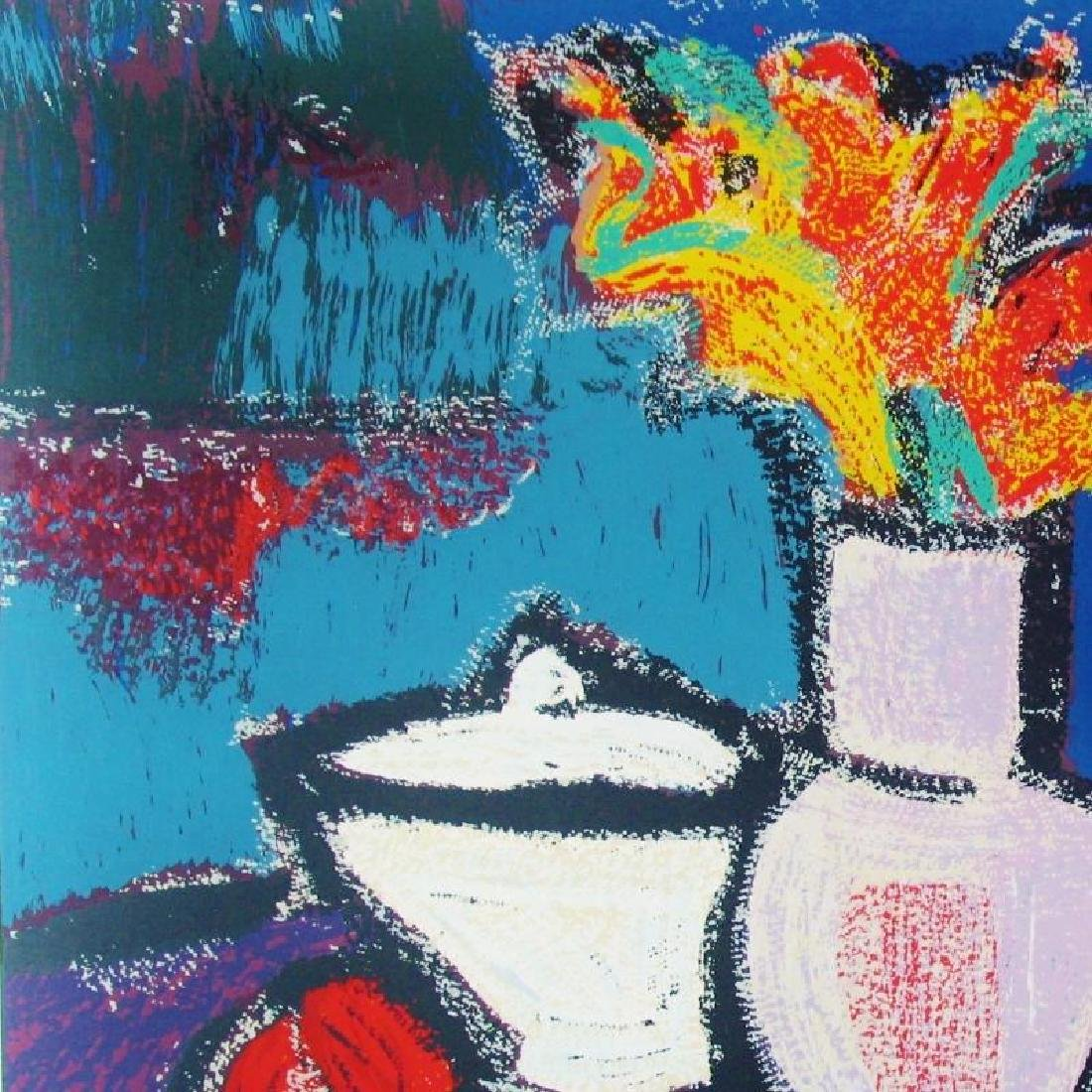 Abstract Modern Colorful Still Life Fantastic Signed - 3