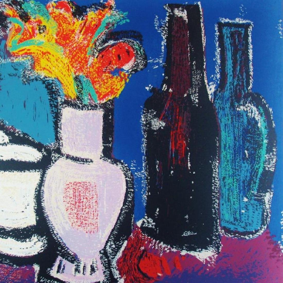 Abstract Modern Colorful Still Life Fantastic Signed - 4