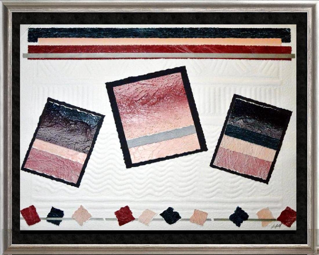 Abstract Southwestern Style Geometric Signed Dealer