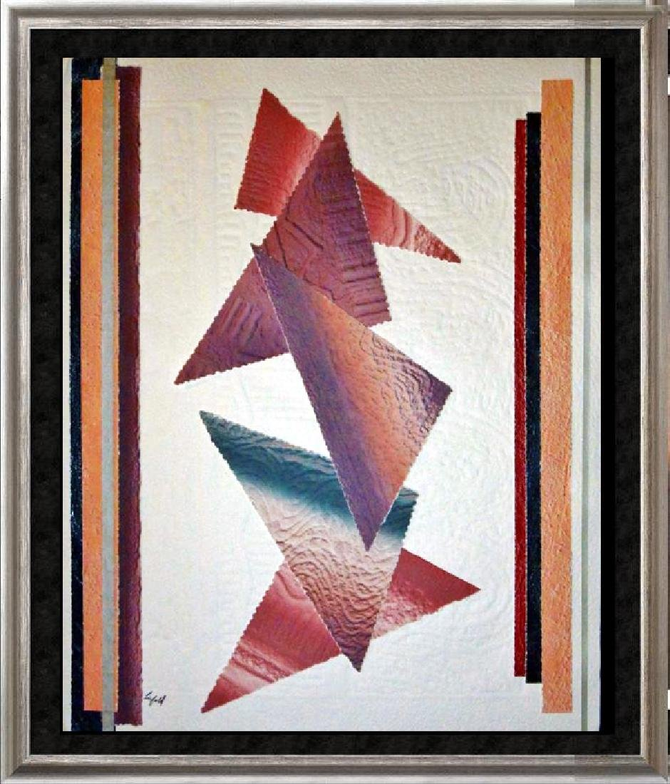 Abstract Southwestern Colors Geometric Signed Dealer