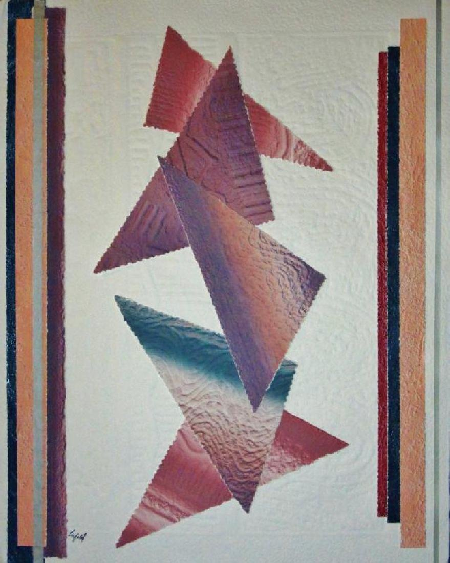 Abstract Southwestern Colors Geometric Signed Dealer - 2