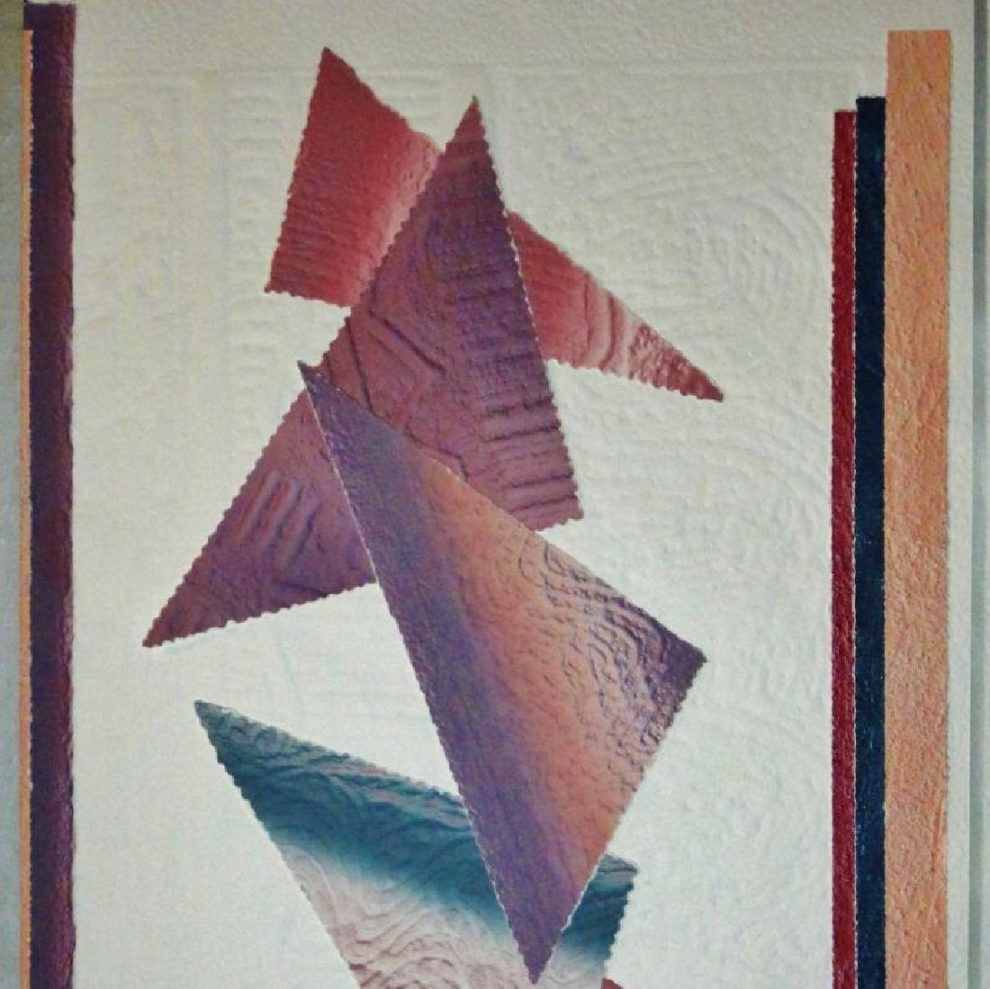 Abstract Southwestern Colors Geometric Signed Dealer - 3