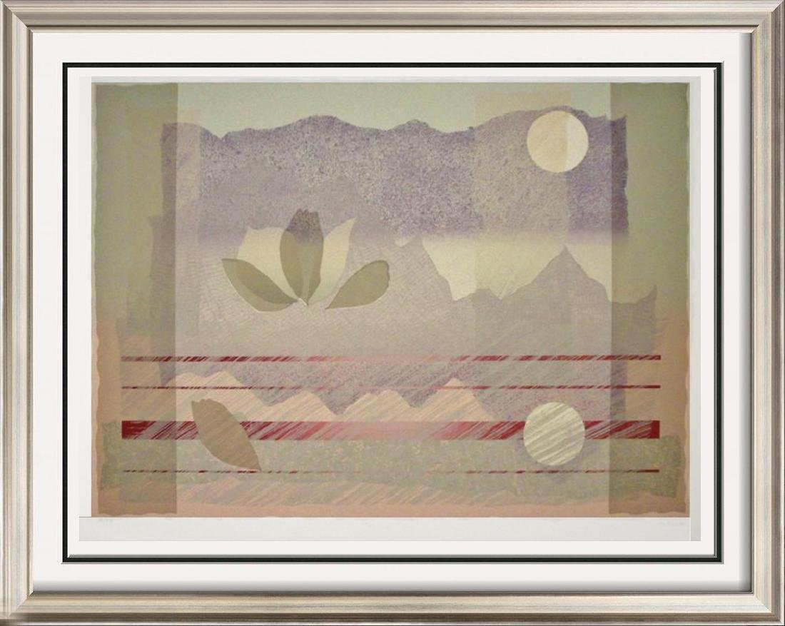 Abstract Purple Pink Mountain View Huge Sale