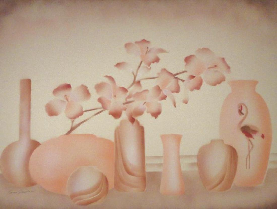 Vase Pastel Colored Limited Edition Litho - 2