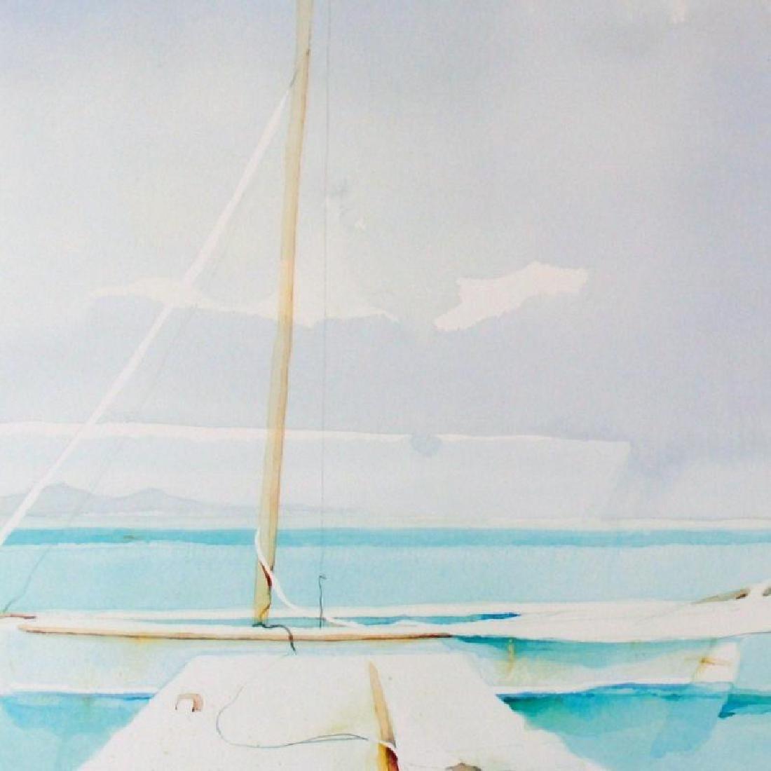 Dockside Art Print Island Watercolor Style Art Print - 3