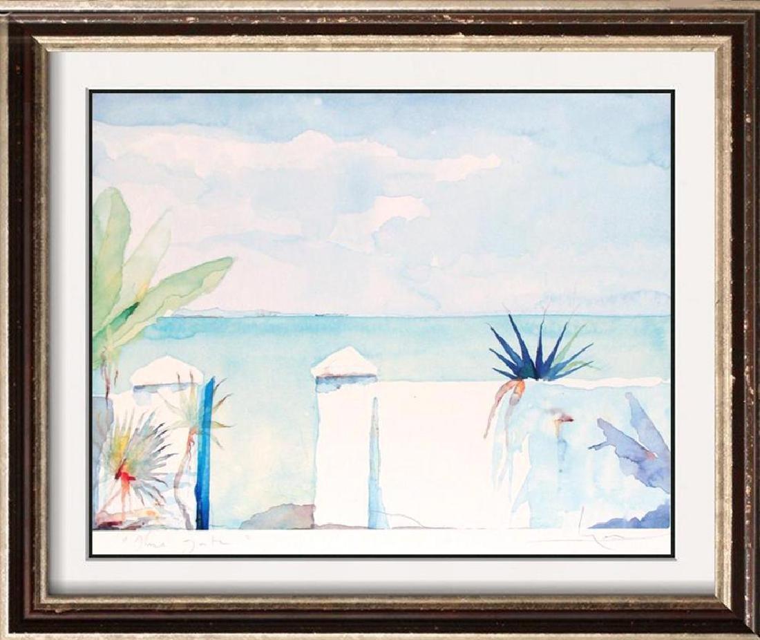 Balcony Art Print Island Watercolor Style Art Print