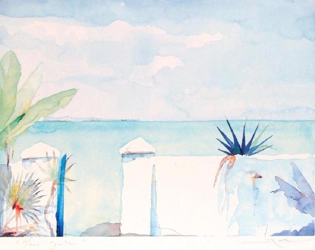 Balcony Art Print Island Watercolor Style Art Print - 2