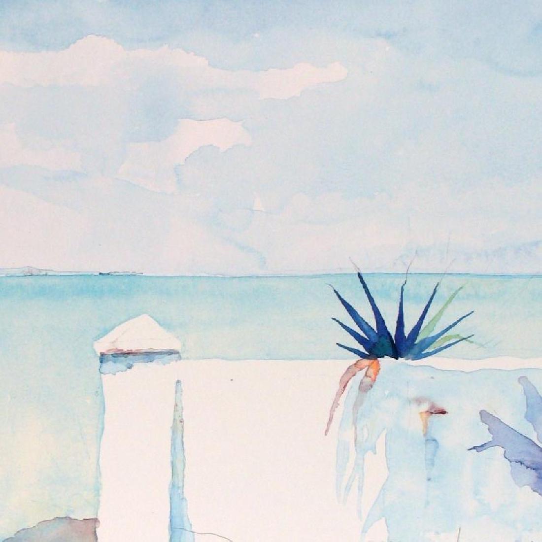 Balcony Art Print Island Watercolor Style Art Print - 3