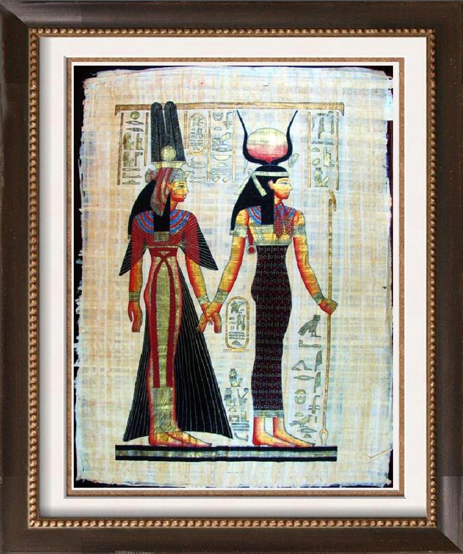 Original Egyptian Large 38x27 Papyrus Painting