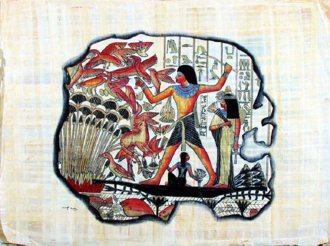 Original Egyptian Art Papyrus Painting Liquidation Sale - 2