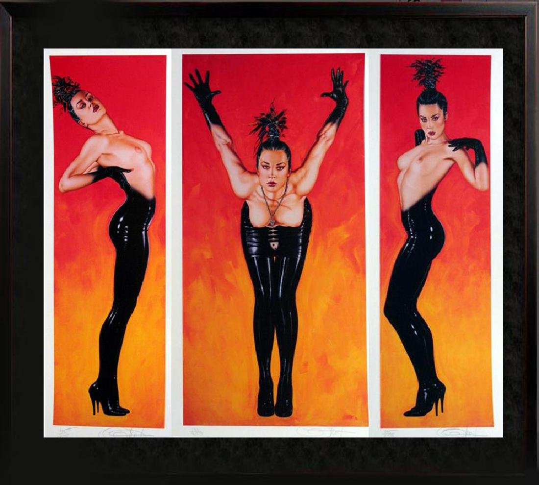 Olivia 3 Panel Rare Ltd Ed Signed Nude Art Sale