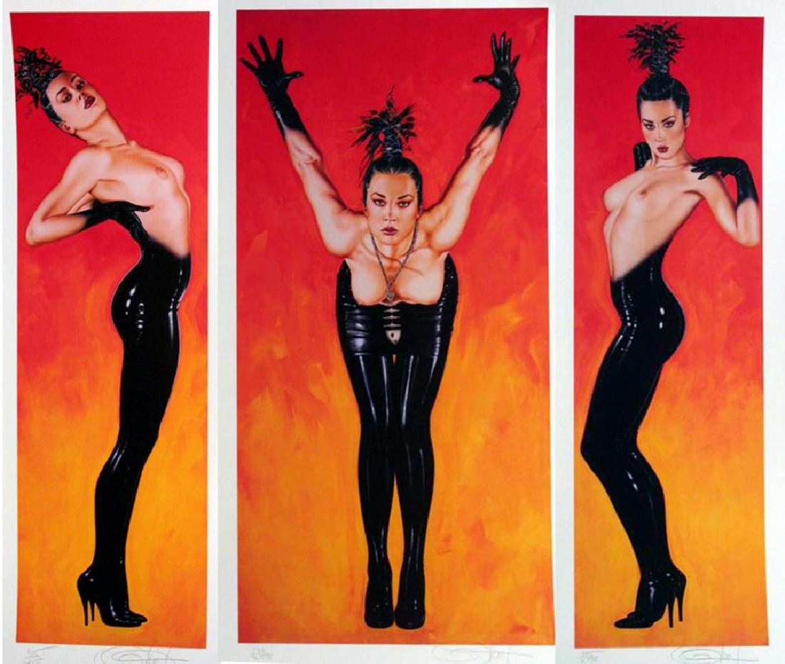 Olivia 3 Panel Rare Ltd Ed Signed Nude Art Sale - 2