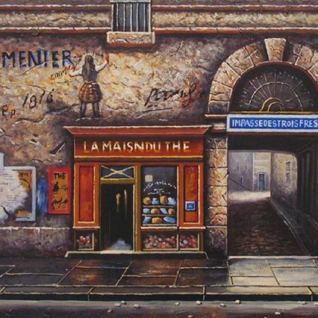Original Painting On Canvas Street Scene Impressionism - 3