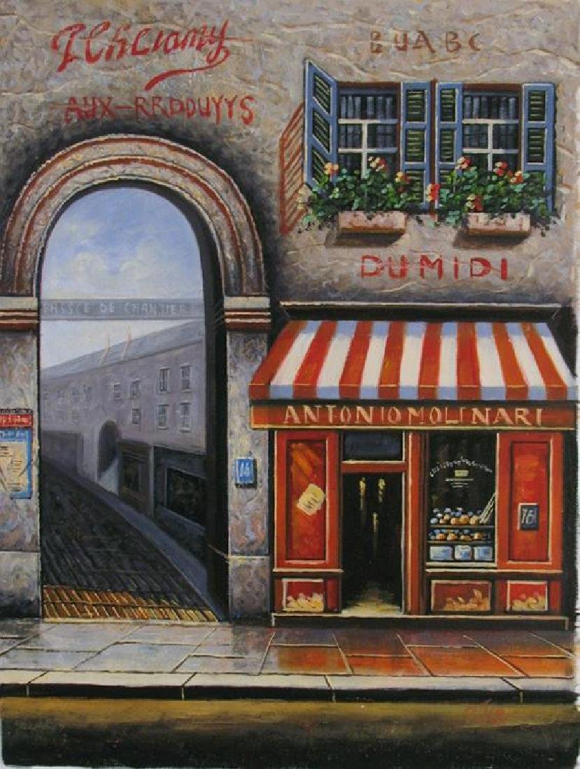 Original Painting On Canvas Street Scene Impressionism - 2