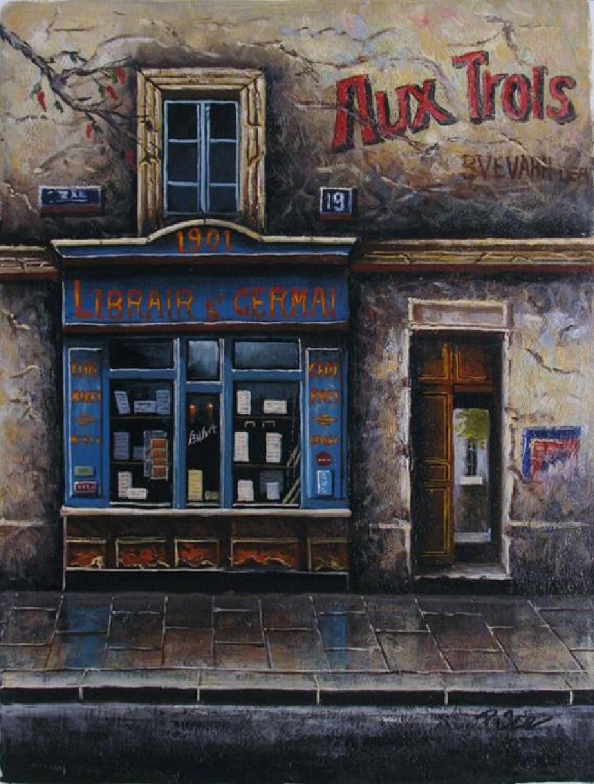 Colorful Street Scene European Impressionism Original - 2