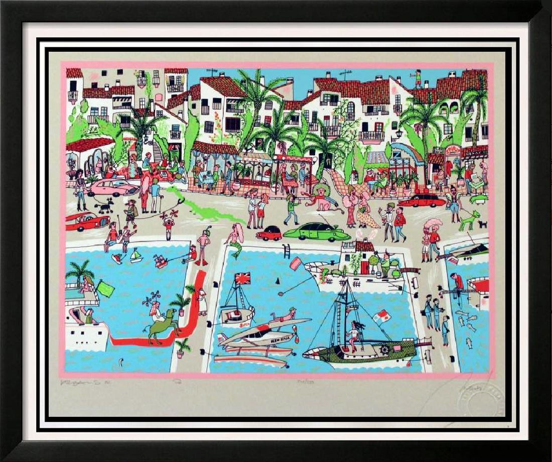 Fun Detailed Hand Signed Limited Edition Boating